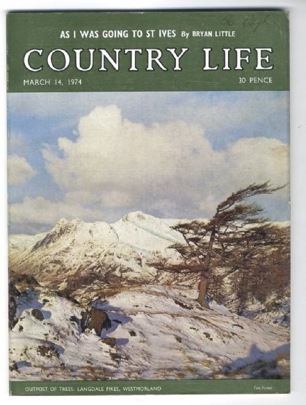 1974 COUNTRY LIFE MAGAZINE 14 March LANGDALE PIKES St Ives Inside VICTOR HUGO